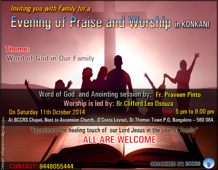 "October Months ""Evening of Praise and Worship"" in Konkani"