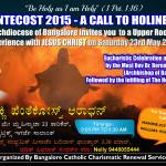"Pentecost Night Vigil in Konkani"" on  Saturday 23rd May 2015, at St.Patrick's Church.Bangalore."